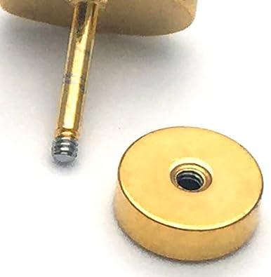 1 Paio Uomo Donna Finto Dilatatore Fake Cheater Plug Gauges Nero Cerchio Orecchini con Smalto Acciaio Inossidabile