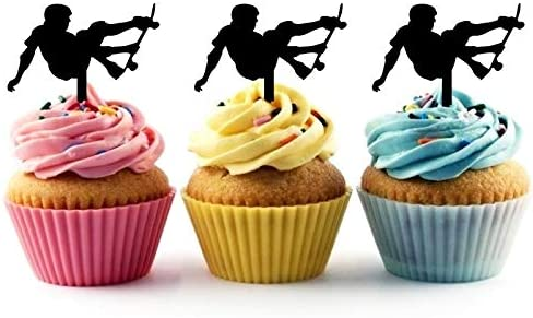 10pcs Helicopter Cake Cupcake Topper Food Picks Birthday Party Cake Decorations