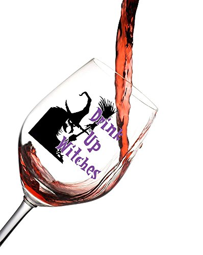 Halloween Wine Glass features the saying