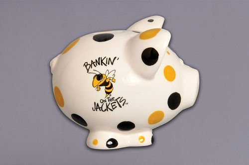 Magnolia Lane Ceramic Collegiate Piggy Bank (Georgia Tech Yellow Jackets) ()