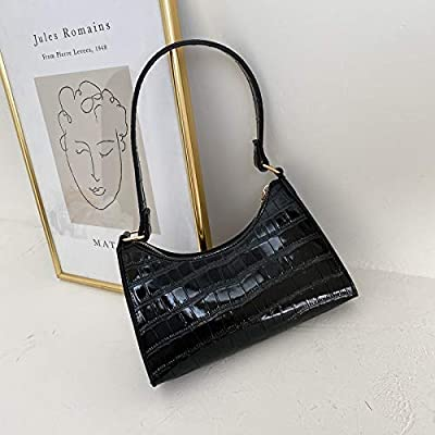 Soft Pu Leather Women Purple Underarm Bag Retro Solid Color Ladies Baguette Handbags Design Girls Small Shoulder Bags Color B Black Size 22x8x14cm Buy Online At Best Price In Uae