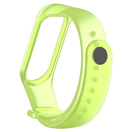 Kybers Compatible for Xiaomi Mi Band 4 - Summer Breathable Transparent Silicone Replacement Wristband for XiaoMi mi Band 4 - Adjustable Jelly Wrist Strap for Women/Men