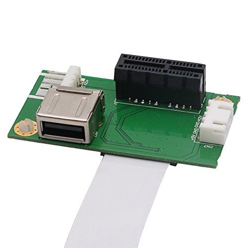 RingBuu Express PCI-E to PCI-E Mini 1X Extension Cord Adapter Card with USB Riser Card by RingBuu (Image #4)