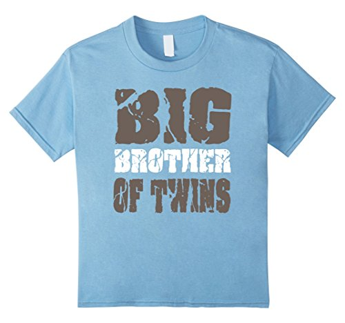 Kids Big Brother of Twins T-Shirt Pregnancy Announcement 4 Baby - Brothers Twins