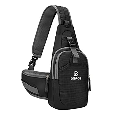 Sling Bag for Men & Women - Chest Shoulder Unbalance Crossbody Backpack Water Resistant Daypack for Gym Travel Hiking