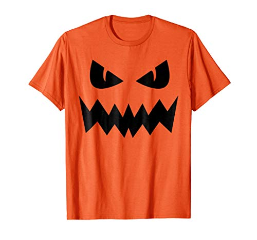 Pumpkin Face T-Shirt - Funny Halloween Pumpkin T-Shirt