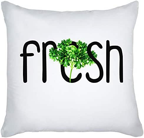 graphke Fresh Green and Tasty Parsley - A Perfect Herb to Every Dish Decorative Pillow