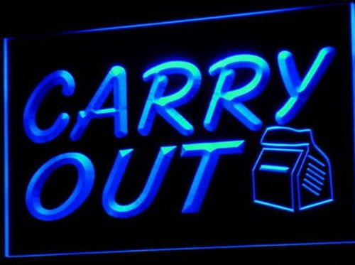 (Carry Out Take Away Cafe Bar Pub Neon Light Sign)