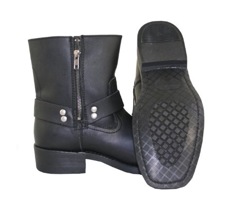 Xelement 1502 Mens Zipper Black Harness Motorcycle Boots - 10