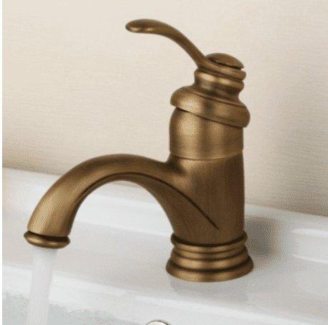 NewBorn Faucet Wasserhähne Warmes und Kaltes Wasser super Qualität Antike Wasser Eine Klassische Blau-ColGoldt Tops voll Kupfer Warmes und Kaltes Tippen