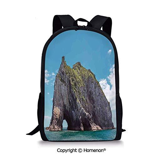 Blue Grey,design Fashion Backpack Schoolbag Book Bag Teenagers Satchel(17.3