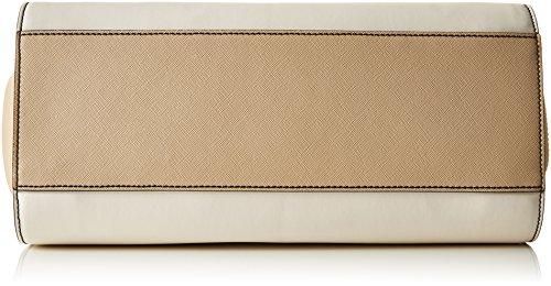 Armani 9221777P758, Borsa con Maniglia Donna Mehrfarbig (Bianco/Beige/Nero 43310)