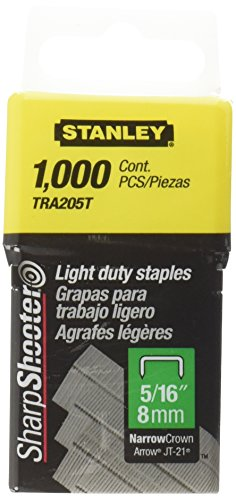 Stanley TRA205T 1,000 Units 5/16-Inch Light Duty Staples - Arrow Jt 21 Staples