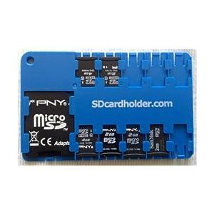 Amazon Com Micro Sd Card Holder Blue Computers