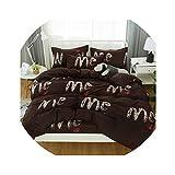 HANBINGPO Bedding Set Black Bed Linen 3/4pcs/set Duvet Cover Set Pastoral Bed Sheet Twin Full Queen King Size Duvet Cover 2019 Bed,1,King Size 4pcs 2.0m