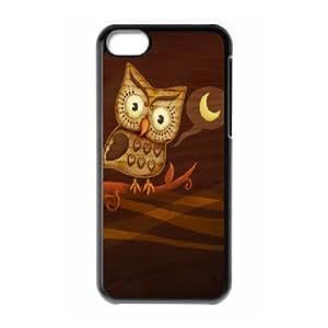 [Cartoons] Night Owl Hoot Case for IPhone 5C {Black}