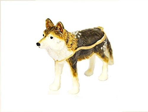 (Ciel Collectables Fox Trinket Box. Hand Painted Enamel with Swarovski Crystal)