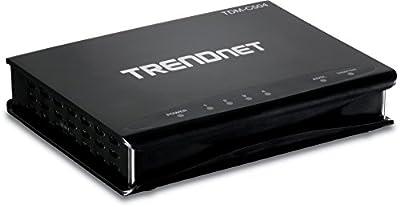 TRENDnet 4-Port ADSL 2/2+ Fast Ethernet Combination Modem Router, 4 x 10/100Mbps Auto-MDIX RJ-45 Ports, TDM-C504