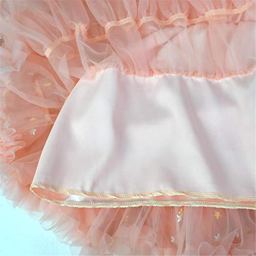 Tutu Esterno Layered Delle Ruffle Pfirsich Balletto 0 Tulle Del Beige Pannello 10t Ragazze rdnx8nYtqw
