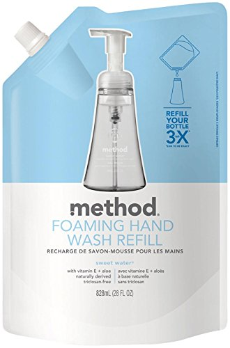 (Method Foaming Hand Wash Refill, Sea Minerals, 28 oz Pouch, 6/Carton)