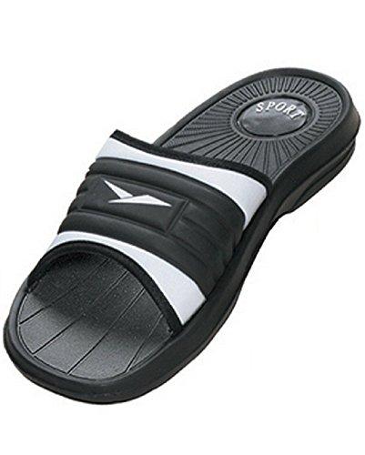 Mens Gummi Slide Sandal Toffel Bekväm Dusch Beach Sko Slip På Blå