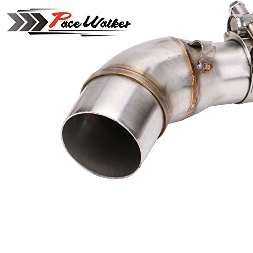 A middle connect for kawasaki Z250SL Motorcycle Exhaust Pipe Muffler Escape Connecting Pipe Front Link Pipe Moto Mid Pipe by pacewalker (Image #2)