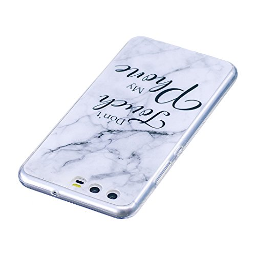 Funda de mármol para Huawei P9 LITE, Carcasa Suave TPU Oududianzi Funda de Silicona Flexible Soft Silicone Case Casco Protectora Anti Choque - Mármol tricolor Toque