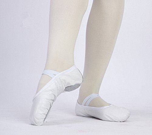 Slippers Pig Skin White Shoes Leather Black Dance Gym Genuine Ballet Womens WRwYPq0M