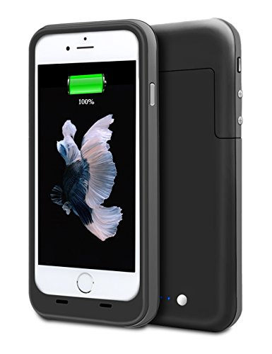 3800mah External Battery Case iPhone 6/ iPhone 6s (Black) - 4