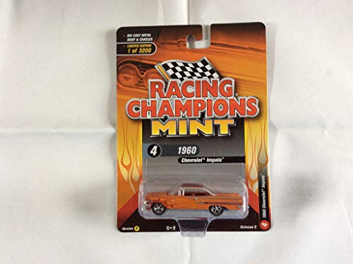 - 1960 Chevrolet Impala Orange with Red Flames Limited Edition to 3,200 Pieces Worldwide 1/64 Diecast Model Car by Racing Champions RCSP007