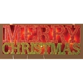 lighted merry christmas sign stake