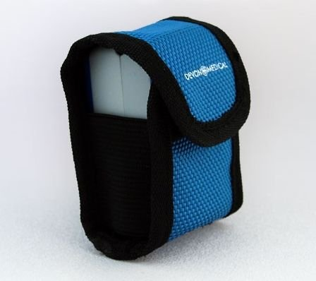 Devon Medical Carrying Case for Fingertip Pulse Oximeters (With Neck Cord and Belt Loop)