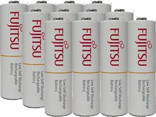 - 12 AAA Ready-to-use rechargeable batteries 800mAh (Min 750mAh) NiMH 1.2V By Fujitsu