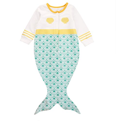 [Newborn Girls Seashell Long Sleeve Bodysuit Romper Jumpsuit Outfits 0-18 Months (0-3 Months)] (Top 2016 Toddler Halloween Costumes)