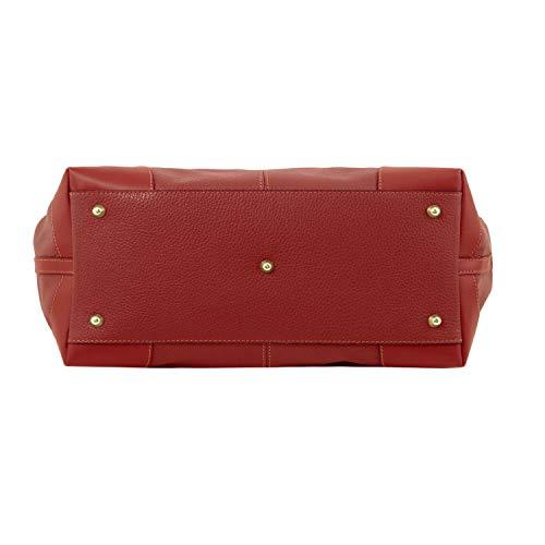 Leather Cuir 98141516 Avec Souple Tuscany Rouge Sac Ambrosia En Bandoulière Zwn6qf