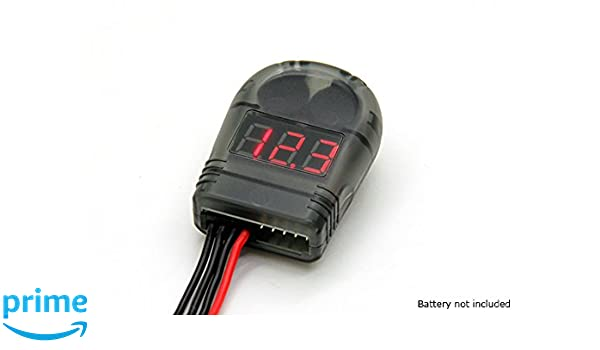 Amazon com: Turnigy Lipo Battery Voltage Tester 2-8S and Low Voltage