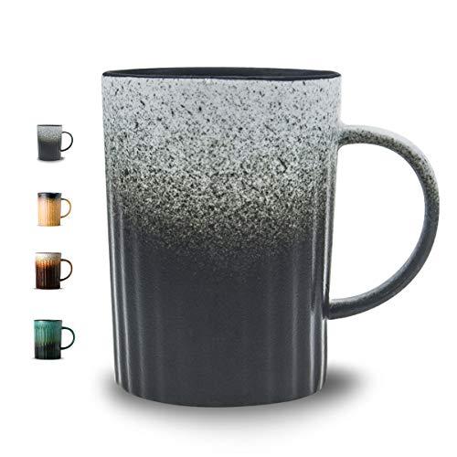 Handmade Porcelain Ceramic Coffee Mug-LIITA 17 oz Natural Gradual Matte Retro Clay Cup with Gift Box, for Mug ()