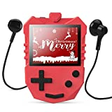AGPTEK MP3 Player for Kids, K1 Portable 8GB Children Music Player with Built-in Speaker, FM Radio, Voice Recorder, Expandable Up to 128GB, Red(Upgraded Version)