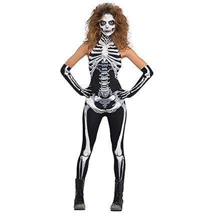 Traje de niño esqueleto gótico de las señoras Large (UK 14 ...