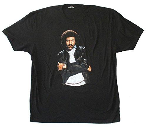 Lionel Richie All Night Long Pic Image Adult Black T Shirt - Adult Pics Black