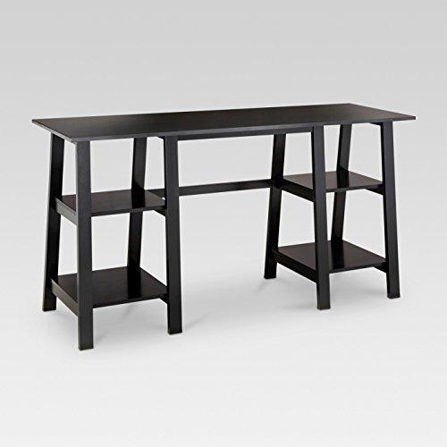 Double Trestle - Double Trestle Desk, Black - Threshold