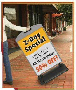Chalkboard Panel 26''x48'' Sidewalk Curb Wind Sign II by Accent Printing & Signs