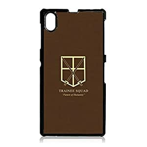 Artistic Pattern Attack On Titan Phone Case Cover For sony?xperia?Z1 Wings of Liberty Fashionable