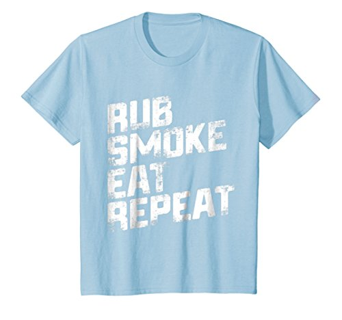 Kids Rub Smoke Eat Repeat T-Shirt 4 Baby Blue