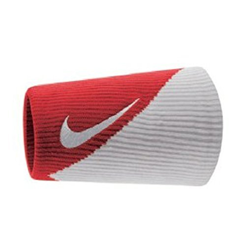Nike Dri-Fit Doublewide Wristbands 2.0 - Varsity Red/White