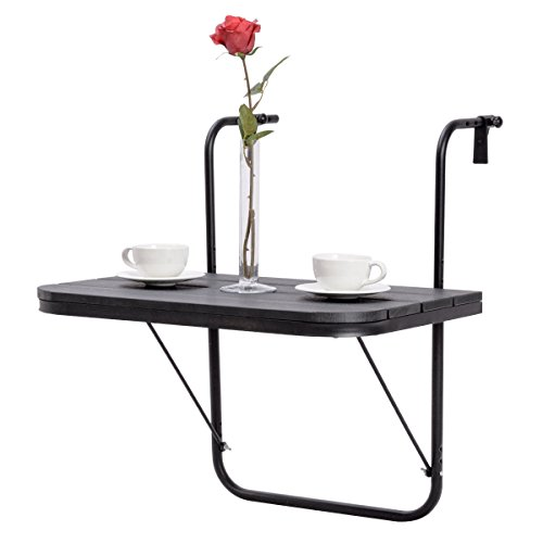 Adjustable Folding Deck Table Patio Balcony Serving Table Stand Hanging Railing Review