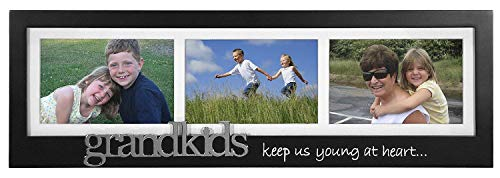 Malden Grandkids Keep Us Young at Heart - Silver Expression 3-Opening Frame, 4 by 6-Inch