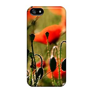 New Style DaiCMrph Remembrance Poppies Premium Tpu Cover Case For Iphone 5/5s