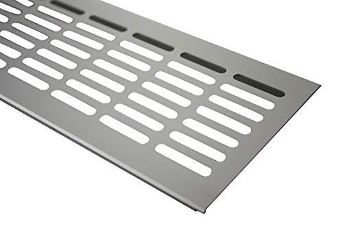 Aluminium L/üftungsgitter Stegblech L/üftung 100mm x 500mm in verschiedenen Farben Weiss pulverbeschichtet