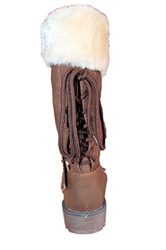 jili-bottes fourrées-marron-fille